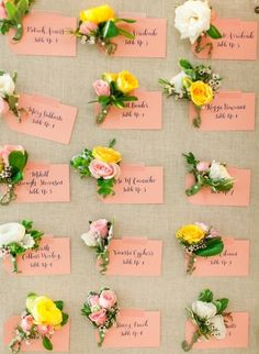 Boutonnieres and place cards: http://www.stylemepretty.com/2014/06/12/whimsical-maryland-wedding-at-woodend-sanctuary/ | Photography: Jodi Miller - http://www.jodimillerphotography.com/