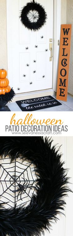 Halloween patio decorating ideas! We transformed our porch into Halloween headquarters with some help from At Home Stores, bring on the trick or treaters! #AtHomeStores #AtHomeFinds #ad