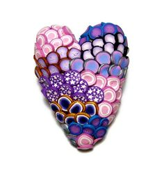 Textured Heart Polymer Clay Pin Handmade by SweetchildJewelry, $15.00                                                 youtube to mp3