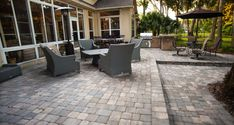 Custom paver patios to fit your budget and needs. Call us today and speak to our representative to set up a FREE design consultation. We would love to bring the patio of your dreams to your backyard.