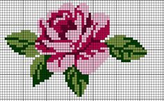 Nice embroidery stitch towel with pattern schema. Cross Stitch Charts, Cross Stitch Designs, Cross Stitch Patterns, Cross Stitch Flowers Pattern, Cross Stitching, Cross Stitch Embroidery, Embroidery Patterns, Rose Embroidery, Bandeau Crochet