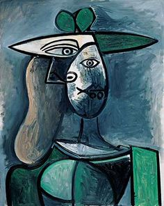 2020 is a great year if you want to view Pablo Picasso famous paintings. There are many Picasso art exhibitions happening in Here is the full list! Kunst Picasso, Art Picasso, Pablo Picasso Artwork, Picasso Woman Painting, Georges Braque, Spanish Painters, Spanish Artists, Picasso Famous Paintings, Green Hats