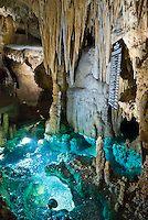 Wishing Well glows blue-green at Luray Caverns, Virginia, USA. | PhotoSeek.com