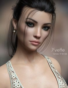 P3D Yvette for Genesis 8 Female is a female, character for Genesis 8 Female for Daz Studio or Poser created by P3Design.