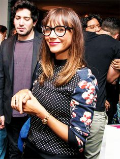 Rashida Jones at the Vogue Eyewear Launch Party.  She's always so stinkin cute!