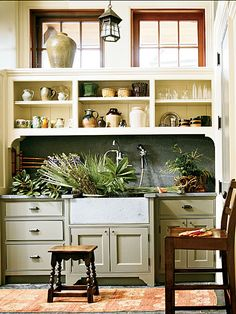 Would be a great garden section to a mudroom ~ {Work Room - Work Space Wonder} - from Southern Accents