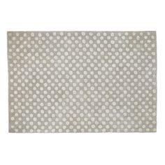 Baumwollteppich DOLLY gepunktet, 120 x 180cm, grau