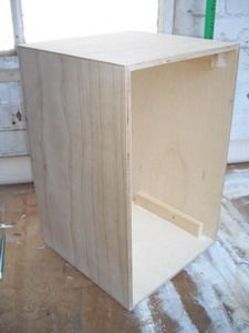 When the glue is fully set and the clamps have been removed and your cajon body should look like this.
