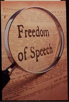I have the freedom of speech and if someone doesn't like what I have to say...then keep walking