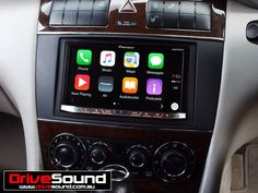 Mercedes C-Class with Apple CarPlay installed by DriveSound.