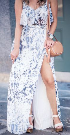summer outfits Printed Maxi Dress