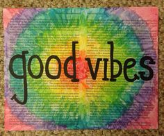 Good Vibes TieDye 8x10 Canvas by annielayer on Etsy, $15.00