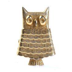 Hinged Owl Brooch
