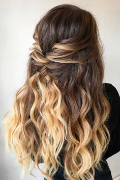30 Awesome Braided Half Up Half Down Hairstyles for Your Prom - homecoming hairstyles,homecoming hairstyles down,homecoming hairstyles for short hair Pretty Hairstyles, Braided Hairstyles, Funky Hairstyles, Easy Prom Hairstyles, Hairstyles For Dances, Hairstyle Ideas, Hairstyles For Homecoming, Prom Hairstyles For Long Hair Half Up, Curly Prom Hair