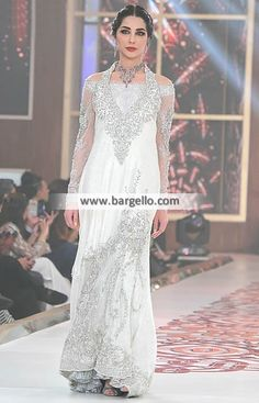 Attractive Long Gown for Engagement and Special Occasions This white color long gown make you look perfect o