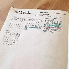 This simple month-to-month tracker that will show you how you're doing all year long: 29 Bullet Journal Layouts For Anyone Trying To Be Healthy Bullet Journal Workout, Bullet Journal Layout, Bullet Journal Inspiration, Journal Ideas, Bullet Journals, Journal Prompts, Bujo, Improve Handwriting, Handwriting Analysis