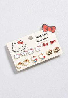 e8d637ba7 530 Best Hello kitty earrings images in 2019   Hello Kitty, Studs ...