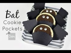 """http://www.sizzix.com/home These Bat Cookie Pockets are a """"Boo""""-rrific treat for…"""