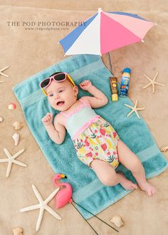 Beach Baby Three Month Old Girl Portraits Beach Baby Three Month Old Girl Portraits Summer Baby Pictures, Baby Beach Photos, 6 Month Baby Picture Ideas, Baby Girl Pictures, 3 Month Old Baby Pictures, Monthly Baby Photos, Monthly Pictures, Newborn Baby Photography, Beach Baby Photography