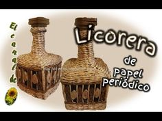 LICORERA DE PAPEL PERIODICO - Decanter newspaper - YouTube