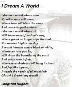 I dream a world-Langston Hughes