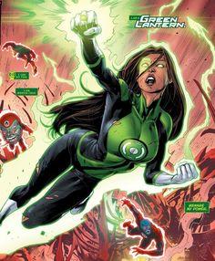 Female Dc Characters, Female Superheroes And Villains, Marvel Villains, Comic Book Characters, Marvel Dc Comics, Comic Character, Comic Books Art, Comic Art, Jessica Cruz Green Lantern