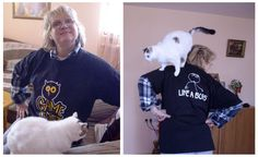 Lidia Filipova with a Cat !