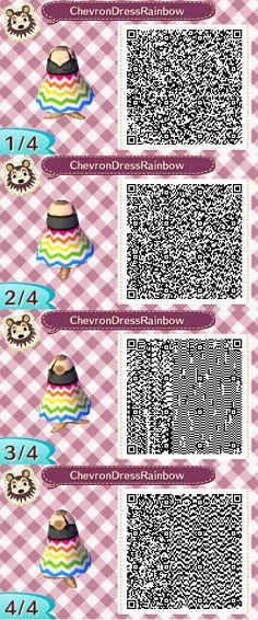 Cheveron Dress Rainbow2 QR Code by ChibiBeeBee on DeviantArt