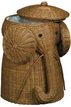 Rattan Elephant Hamper, $49.99