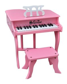 Fancy Baby Grand Toy Piano, Pink by Schoenhut at Bergdorf Goodman. Little Girl Toys, Toys For Girls, Baby Doll Nursery, Baby Dolls, Toddler Toys, Kids Toys, Grand And Toy, Pink Piano, Loft Playroom