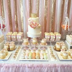 Blush Pink & Gold Garland Backdrop - birthday, baby shower, wedding ... Fabric, Sequin and Lace by ohMYcharley on Etsy https://www.etsy.com/listing/484344186/blush-pink-gold-garland-backdrop