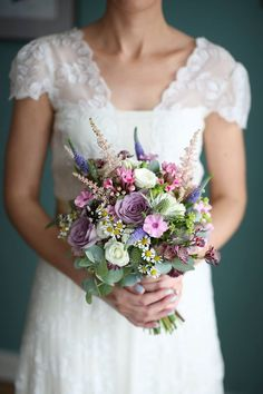 Purple & Pink Spring Bouquet by The Flower Box