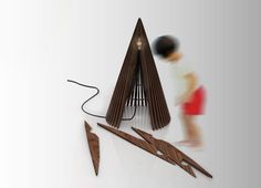 Large 'Cone' light by MARZ DESIGNS -  Coco Reynolds, via Behance