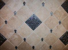114 Best Tile Images Tiles Fleur De Lis Tuscan Decorating