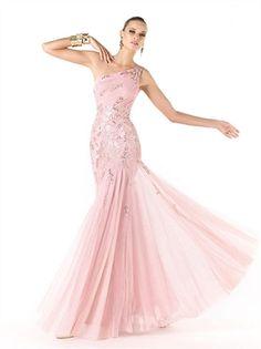Pink One Shoulder Chiffon 2013 Prom Dresses APR200289