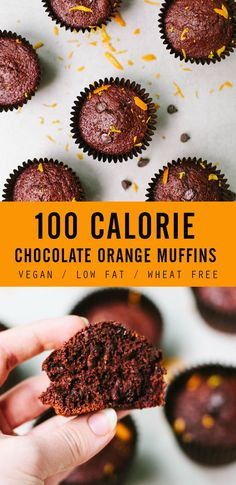 Baking doesn't always have to be unhealthy! Check out these 100 calorie Chocolate Orange Muffins (they're also vegan, low fat and wheat free)!