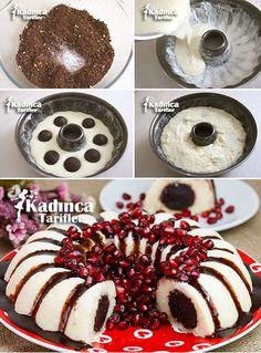Sürprizli İrmik Tatlısı Tarifi Kadincatarifler.com - En Pratik, Lezzetli ve Nefis Yemek Tarifleri Sitesi Fruit Platter Designs, Pasta Cake, Cake Recipes, Dessert Recipes, Gingerbread Cake, Sweets Cake, Lava Cakes, Pie Dessert, Turkish Recipes