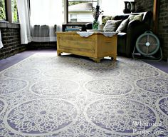 Stenciling: How-To- Tutorials and ideas including this stenciled porch floor by Whimsical Perspective!