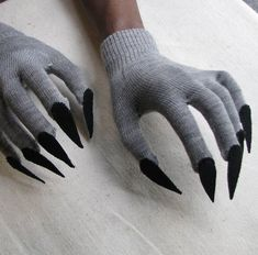 Claw gloves, charcoal gray and black, for Halloween costume or pretend playYou can find Wolf costume and more on our webs. Baby Costumes, Halloween Costumes, Grease Costumes, Woman Costumes, Mermaid Costumes, Couple Costumes, Pirate Costumes, Group Costumes, Masks For Halloween