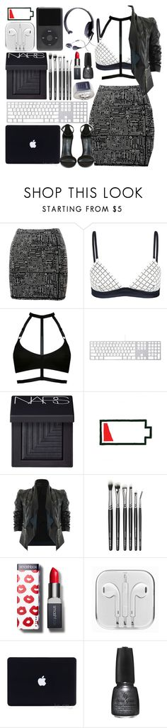 """*accidentally wrecks pc**hacker voice* I'm in."" by lolita-sarif ❤ liked on Polyvore featuring Roots, sass & bide, Spy Optic, NARS Cosmetics, Smashbox, China Glaze, Shoe Cult, Venom, Dark and cyberpunk"