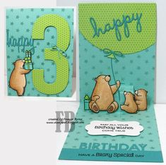 StampOwl's Studio MyFavorite Things: Birthday Bears **Own this set, ONLY saving for image**