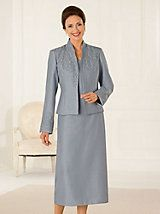 Elegant Shantung Textured Jacket Dress Grandma Dresswedding Party Dressesbridal