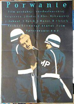 PORWANIE. / Únos.   1953. Autor: JULIAN PALKA. Únos. Režie: Jan Kadar & Elmar Klos. Český film, 1952. Polský filmový plakát. 860x590   Antikvariát PRAŽSKÝ ALMANACH w w w . a r t b o o k . c z
