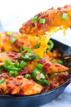 Chicken Nachos   27 Low-Carb Versions Of Your Favorite Comfort Foods