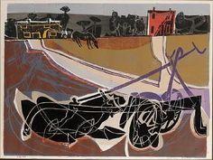 Michael Rothenstein - The Plough, Linocut Outsider Art, Linocut Prints, Print Artist, Online Art Gallery, Painting Inspiration, Printmaking, Artwork, Pony, Lino Cuts