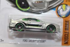 "ZAMAC 012 *FORD SHELBY GT350R* 2017 Muscle Mania 2/10 ""L"" CASE green trim #HotWheels #Ford"