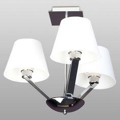 Plafon LAMPA sufitowa ORLANDO 5103/3A WH/CR Maxlight OPRAWA abażurowa chrom biały