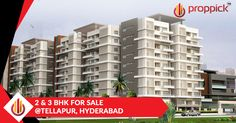 It is a #gatedcommunity comprising of 292 luxurious #apartments across 29 high-rise towers of 10 floors each. Flats are 2/3 BHK measuring from 1058sft to 2060sft for sale at #Tellapur in #Hyderabad. Construction is in full swing. Booking is open...!!! http://www.proppick.com/projects/Honey-Dew