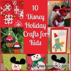 10 Disney Holiday Crafts from 5 Minutes for Mom