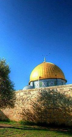 قبة الصخرة و زرقة سماء القدس  Dome of the Rock and the blue sky of Jerusalem